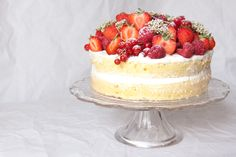 Celebrate the taste of summer with the show stopping elderflower cake with summer fruits.
