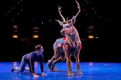"How a onetime acrobat and a ""Lion King"" puppet designer brought a speechless reindeer to life in Disney's stage adaptation of ""Frozen"" on Broadway. Sven Costume, Puppet Costume, Frozen Costume, Frozen On Broadway, Frozen Musical, Sven Frozen, Lion King Jr, Fursuit, Secret Life"