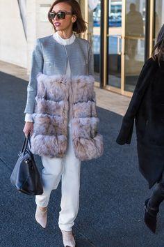 Style inspiration and street fashion: fur coats featuring Giuliana Rancic   40PlusStyle.com