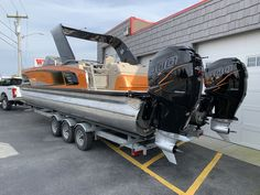 Used 2019 Avalon 2785 Excalibur Windshield Elite Tri Toon High Performance Twin For Sale in Millsboro, DE Pontoon Boat Covers, Luxury Pontoon Boats, Pontoon Boating, Pontoon Accessories, Party Barge, Cool Boats, Boat Stuff, Canoe And Kayak, Super Yachts