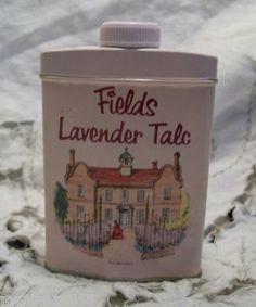 Vintage Fields Lavender Talc Powder in Tin Can