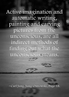 Active imagination and automatic writing, painting and carving pictures from the unconscious, are all indirect methods of finding out what the unconscious means. ~Carl Jung, Jung-Ostrowski, Page 18.
