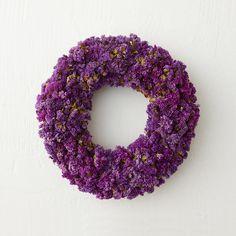 Dried Purple Statice Wreath