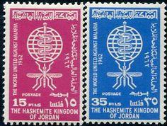 Francobolli . Lotta contro la malaria - Malaria on Stamps Giordania 1962