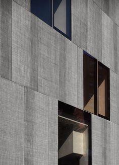 David Adjaye / Pitch Black or Vanderbilt studio/ Artists' studios and offices for James Casebere and Lorna Simpson / facade black polypropylene panels/ 208 Vanderbilt Avenue, between DeKalb and Willoughby Avenues, Clinton Hill, Brooklyn NY