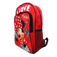 Disney Minnie Mouse - Click image twice for more info - See a larger selection of red  backpacks at http://kidsbackpackstore.com/product-category/red-backpacks/. - kids, juniors, back to school, kids fashion ideas, teens fashion ideas, school supplies, backpack, bag , teenagers girls , gift ideas, red
