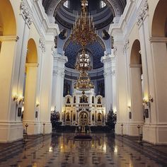 Interior of the cathedral in Vitebsk, Belarus by Dmitri Korobtsov