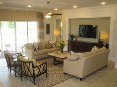a different way of arranging the family room furniture