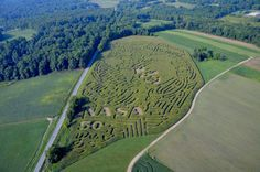 Look close & see John Glenn this year! Cleveland Restaurants, Maze Design, John Glenn, Corn Maze, Ohio State Buckeyes, Breeze, Roots, City Photo, Golf Courses