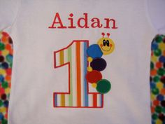 BABY EINSTEIN Inspired Custom Birthday Embroidery