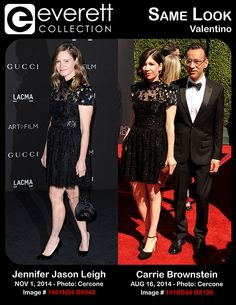 Stunning Ladies, Same Look: Jennifer Jason Leigh and Carrie Brownstein in Valentino