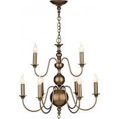 Traditional Flemish 9 light ceiling chandelier in aged matt bronze that would suit Georgian or Regency settings. This is a large 9 light, Flemish style, quality light fitting designed and manufactured in the UK.