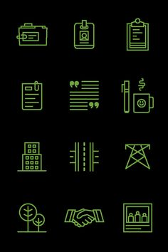 Icon Set by Jon McClure, via Behance