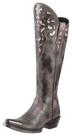 Womens Ariat Hacienda Boots Black #10010254