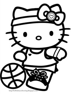 Free Printable Hello Kitty Coloring Pages Picture 68