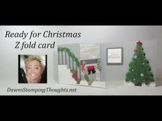 Ready for Christmas Z fold card - YouTube