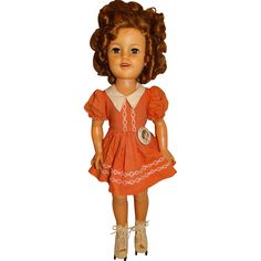 "Ideal Vintage 1950s Shirley Temple 17"" Flirty Eyed Doll from toyscoutjunction on Ruby Lane"