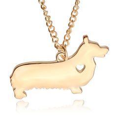 Pet Lovers Dog Rescue creative animal necklace small Corgi dog pet pendant necklaces Choker for women