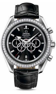 Omega Speedmaster Olympic Collection Timeless WG Black Dial Men's Diamond 321.58.44.52.51.001