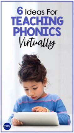 Here are six ideas for teaching phonics virtually. Get teaching tips, teaching ideas and digital phonics activities and resources for how to teach phonics sounds and model skills during a Zoom meeting and distance learning. Ideal for Kindergarten, first grade and 2nd grade classrooms and distance learning with Google Classroom. Teaching Letter Sounds, Phonics Sounds, Teaching Letters, Teaching Phonics, Phonics Activities, Teaching Reading, Teaching Ideas, Kindergarten Activities, Learning Activities