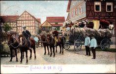 Ansichtskarte / Postkarte Hessischer Brautwagen, Trachten, Pferdekutsche, Brautgaben