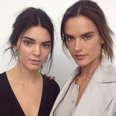 Kendall Jenner and Alessandra Ambrosio #BottegaVeneta #MFW