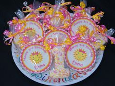 You Are My Sunshine Birthday Cookie Favors by SimplySugarBakery