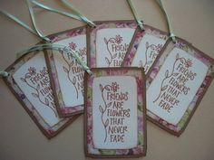 Gift tags...easy to make...turn it into a card!