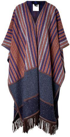 Etro Wool Striped Poncho on shopstyle.com.au