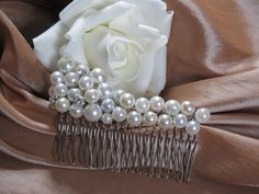 Beautiful Pearl and clear Swarovski crystal by Craftswithchrissie, £9.99