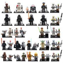 24 unids/lote Star Wars Minifigures la fuerza despierta Kylo Ren Darth Vader C3PO Yoda Solider bloques de construcción de juguetes Lego Compatible(China (Mainland))