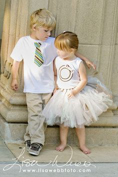 brother and sister tutu and tie.  Photography by Lisa Webb - in a couple years :)