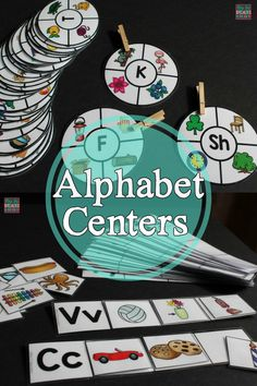 Alphabet Centers to Reinforce & Generalize Letter Skills (Special Ed Resource) 5 alphabet centers perfect for hands on learners, work tasks, early finishers, centers, visual learners and more! Alphabet Activities, Literacy Centers, Time Activities, Autism Classroom, Special Education Classroom, Classroom Ideas, Classroom Resources, Reading Centers, Manualidades