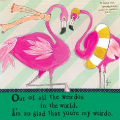 You're My Weirdo Greeting Card - Curly Girl Design