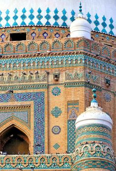 Multan Shah Rukn-e-Alam Pakistan. The Middle East has some of the most incredibly ornate architecture I have ever seen.