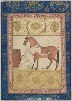 A Horse and Groom - Signed by Muhammad `Ali, Persian - 17 century