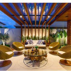 Área externa por MJArquitetura  #instadecor #pergolado #madeira #varanda…