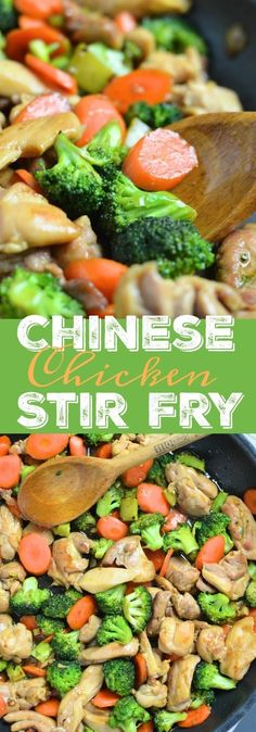 Chinese Chicken Stir Fry with broccoli and carrots. Learn how to make this Asian dish for dinner tonight at www.lyndsaystravelkitchen.com
