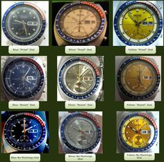 Seiko 6139 dial variants
