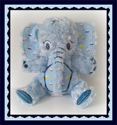 Large Baby Blue Elephant