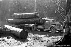 Old Logging Truck From Oregon 8x12 by VintageShowcase on Etsy, $8.00