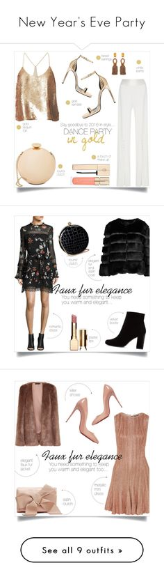 """""""New Year's Eve Party"""" by taniadeseptembre ❤ liked on Polyvore featuring TIBI, Jonathan Simkhai, Yves Saint Laurent, Love Moschino, Oscar de la Renta, Smith & Cult, AINEA, N / Nicholas, Alexander McQueen and Clarins"""