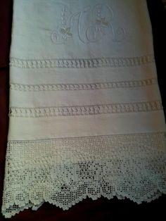 Toalla de lino con vainicas