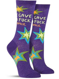 i gave a fuck once cool novelty socks by blue q