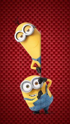 Minion Wallpaper Iphone, Wallpaper Stickers, Wallpaper Iphone Disney, Cartoon Drawings Of People, Cartoon Girl Drawing, Couple Drawings, Minions 4, Minion Rock, Minion Banana