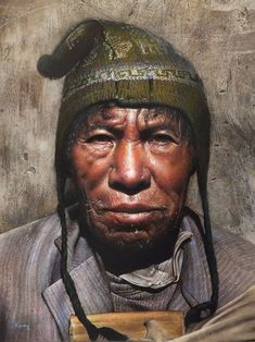 58 Sublime Paintings by Bolivian Artist Rosmery Mamani Ventura Paintings Famous, Indian Art Paintings, Hyperrealism Paintings, Bolivia Travel, Pastel Portraits, Man Photography, Watercolor Artists, Watercolour, Pixel