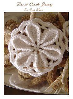 Crochet flower, inspiration.