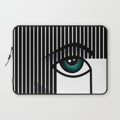 Woman's Profile Laptop Sleeve by Salome | Society6