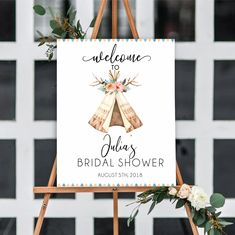 Bridal Shower Welcome Sign, Bridal Shower Signs, Bridal Shower Decorations, Boho, Print And Cut, Special Day, A Table, Card Stock, Tent