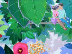 garden-first love / Oil on Canvas, 2013 / 53.0 x 40.9 cm (20.9 x 16.1 inch)